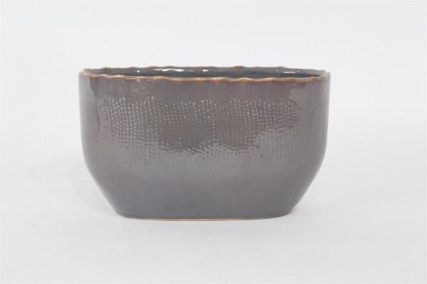 Ceramic Planter Viano Oval Grey/Pink W12L20H12