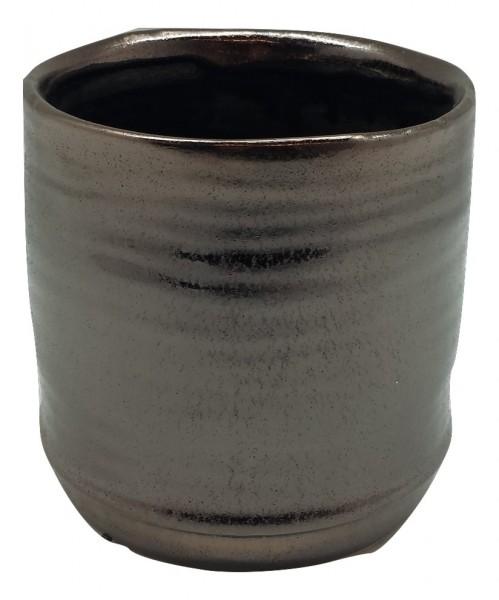 Keramik Topf Rotondi Rund Bronze D10H10
