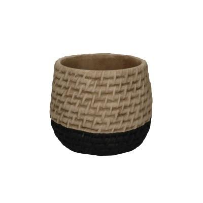 Locri Pot D8H7.5Cm Natural/Black