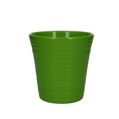 Phal.pot geriffelt d13*13cm gr:un