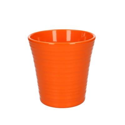 Phal.pot ribbed d13*13cm orange