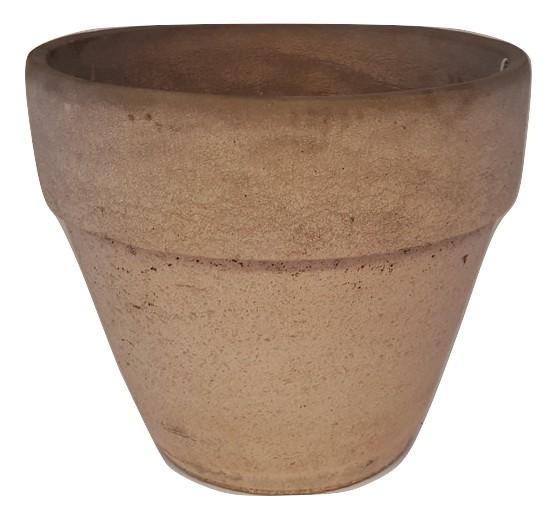 Cement Pot Round With Rim Rovigo Pink D26H23