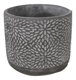 Cement Pot Termoli Rond Grijs D8H8