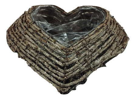 Rattan Plate With Glitter Square Natural L25W25H7 Piece