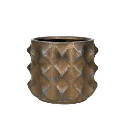 Keramiek.Pot Rocca D17*14cm.Brons