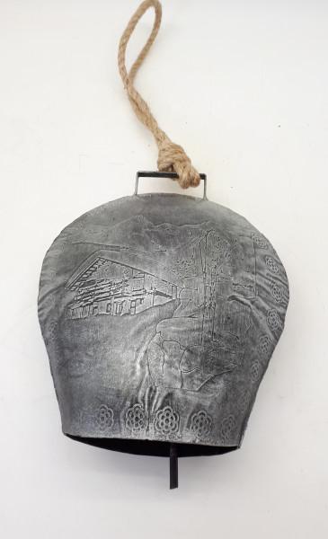 Glocke Borse Silber Grau 20x18x10