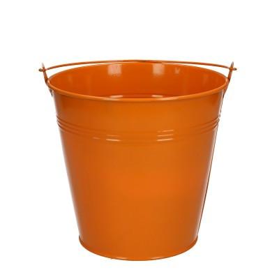 Zink Eimer d16*15cm orange