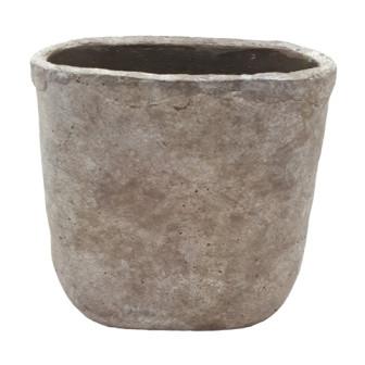 Zement Vase Montieri Oval Antik Grau L29W17H29,5