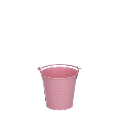 Zink Emmer d08*07cm roze