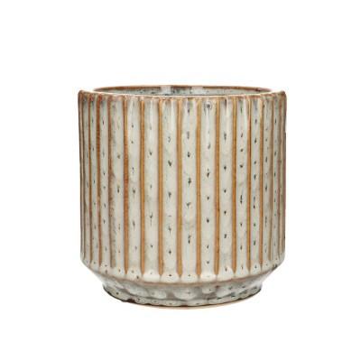 Ceramic.Pot Trino D16*15cm.Ocher