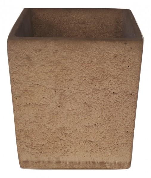 Zement Topf Rovigo Viereck Rosa D23H25