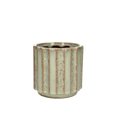 Ceramic.Pot Mirto D12*11.5cm.L.Green