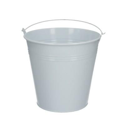 Zinc bucket d16*15cm white