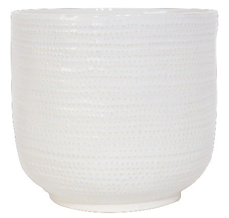 Ceramic Pot Vieste Round White D15,5H14,5