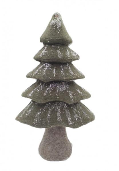 FABRIC XMAS TREE GREEN W18W33