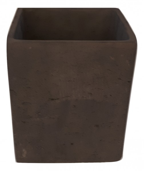 Zement Topf Rovigo Viereck Schwarz D15H18