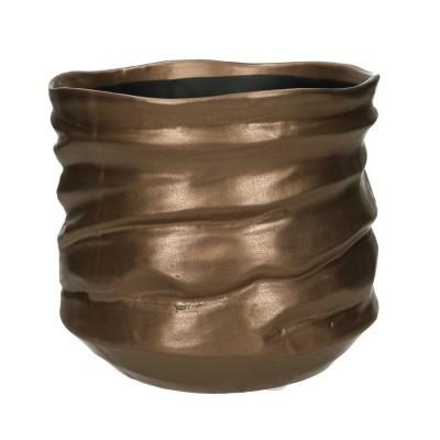 Keramiek Pot Asolo Rond Brons D20H20