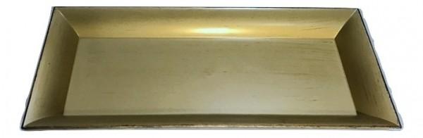 Melamine Tray Rechteck Matt Gold/Brown L36W17H2,5