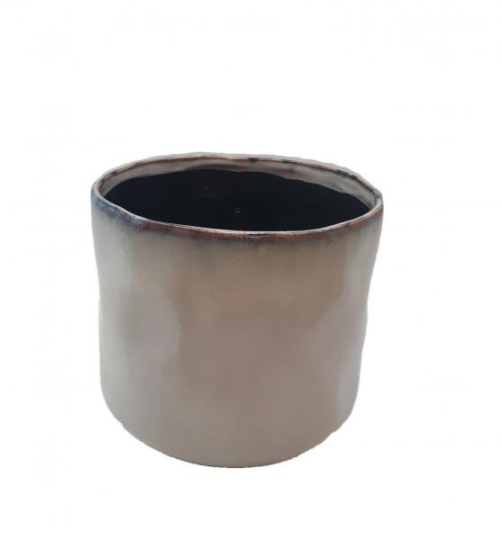 Ceramic Pot Lesina Round Ant.White D16H15
