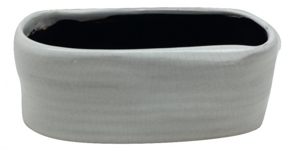 Pflanzer Rotondi Oval Flach Weiss L25W13H11