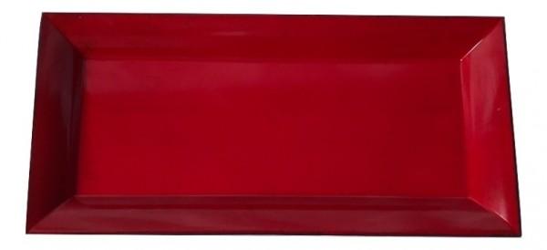 Melamine Tray Rechteck Matt Red/Schwarz L36W17H2,5