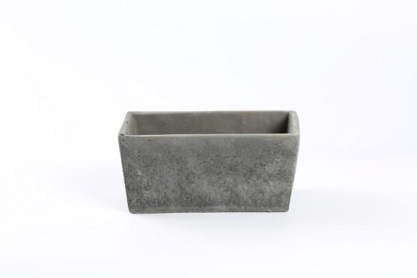 Cement Planter Rovigo Rechthoek Zwart L15,5W8H8
