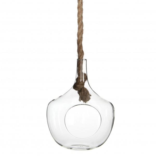 Glas Hängend Mit Seil D15 H20
