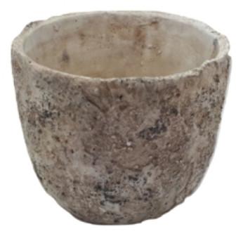 Zement Topf Buia Rund Grau D9H8