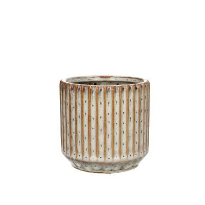 Ceramic.Pot Trino D12*11.5cm.Ocher
